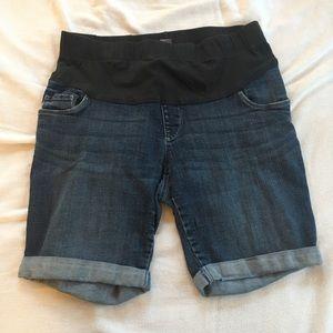 Maternity shorts - cuffed denim/jean shorts